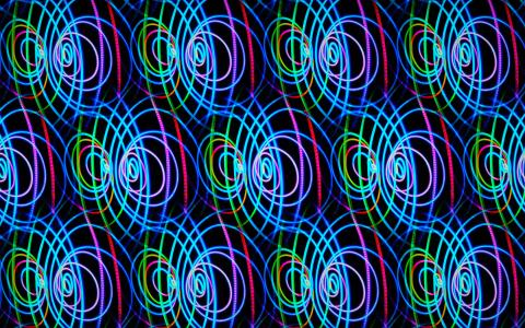 Image of multiple neon circles