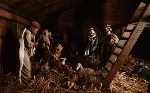Image of a Christmas crib scene